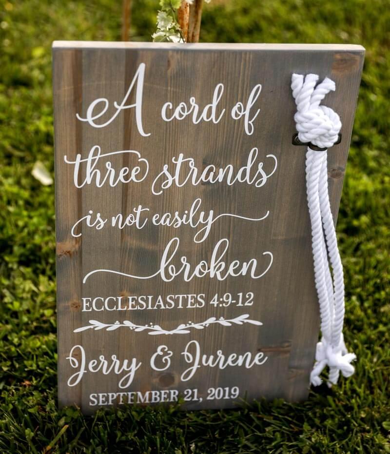Wedding decoration signage