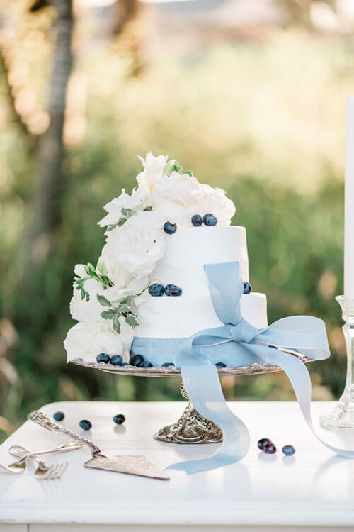French Countryside Wedding Inspiration Cake