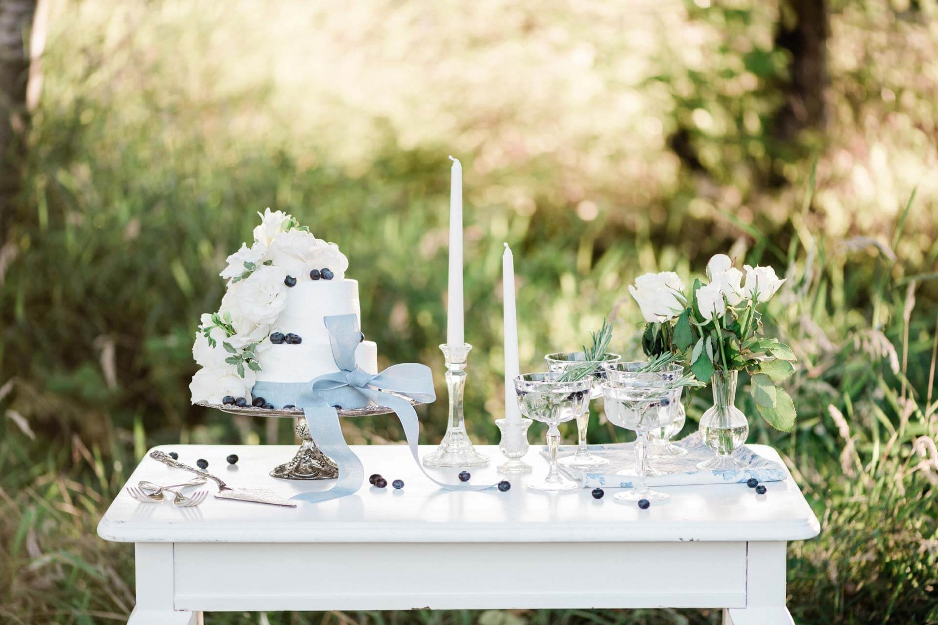 French Countryside Wedding Inspiration Cake Table