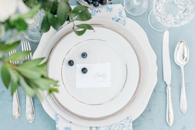 French Countryside Wedding Inspiration dishes