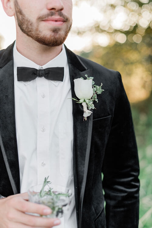 French Countryside Wedding Inspiration Groom
