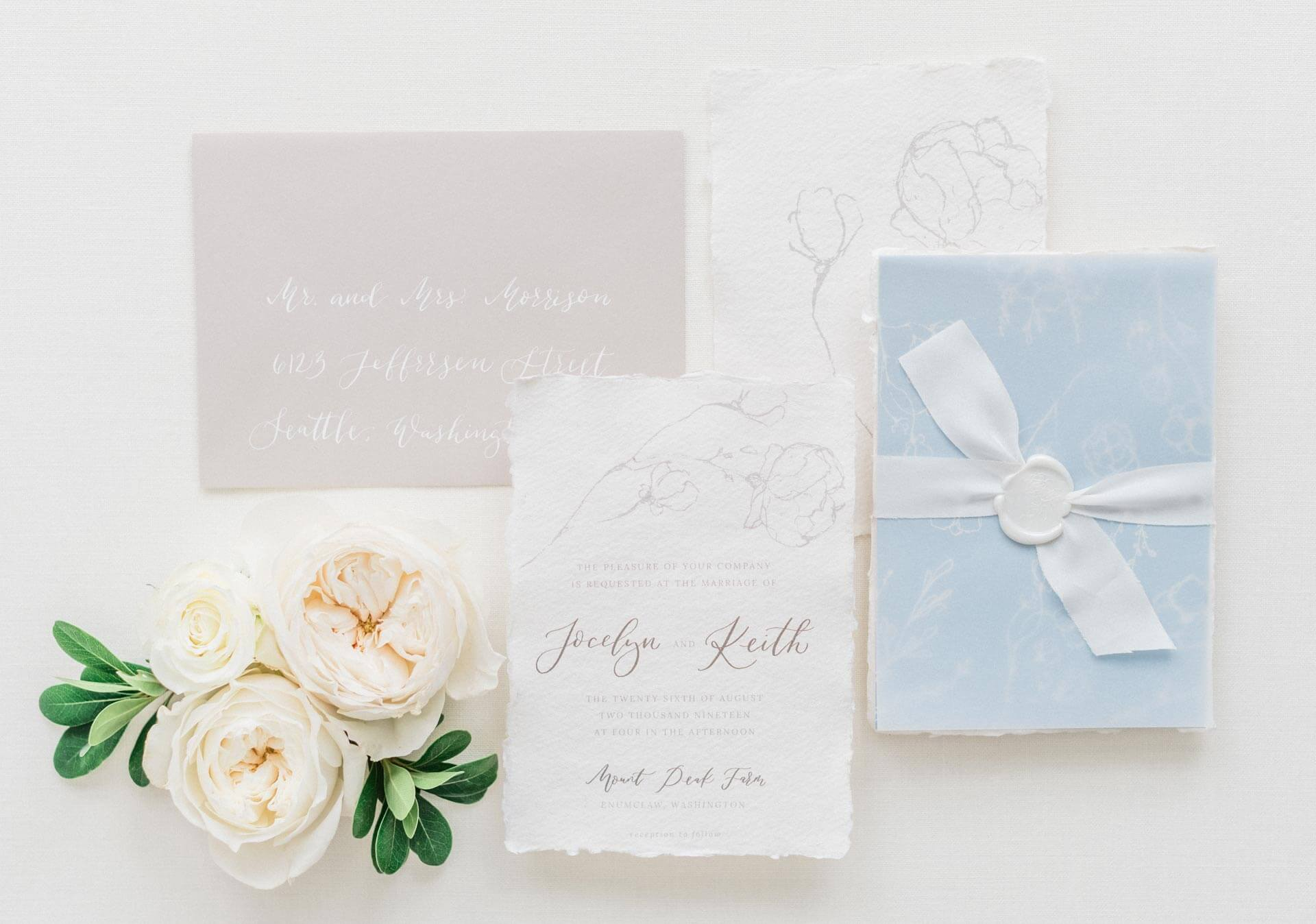 French Countryside Wedding Inspiration Stationary suite