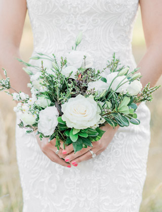 Romantic blush wedding bouquet