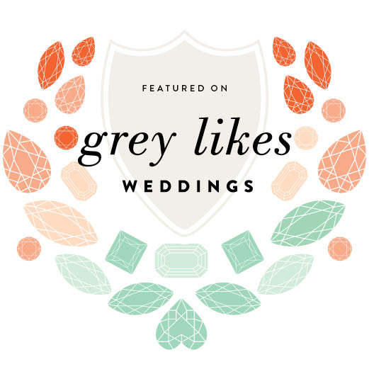 As Featured on Grey Likes Weddings