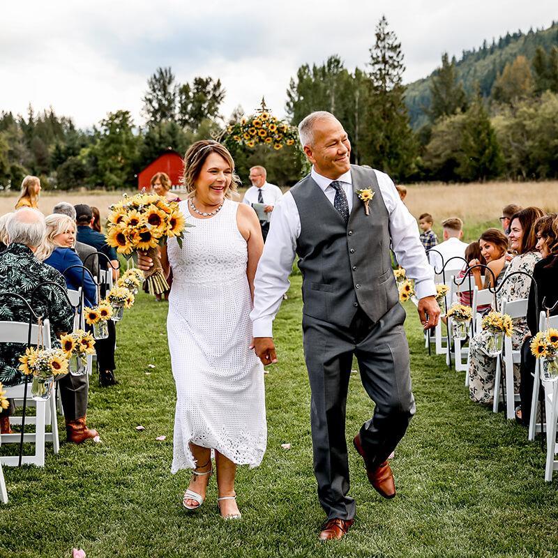 Gallery for Jerry and Jurene Sunflower Wedding