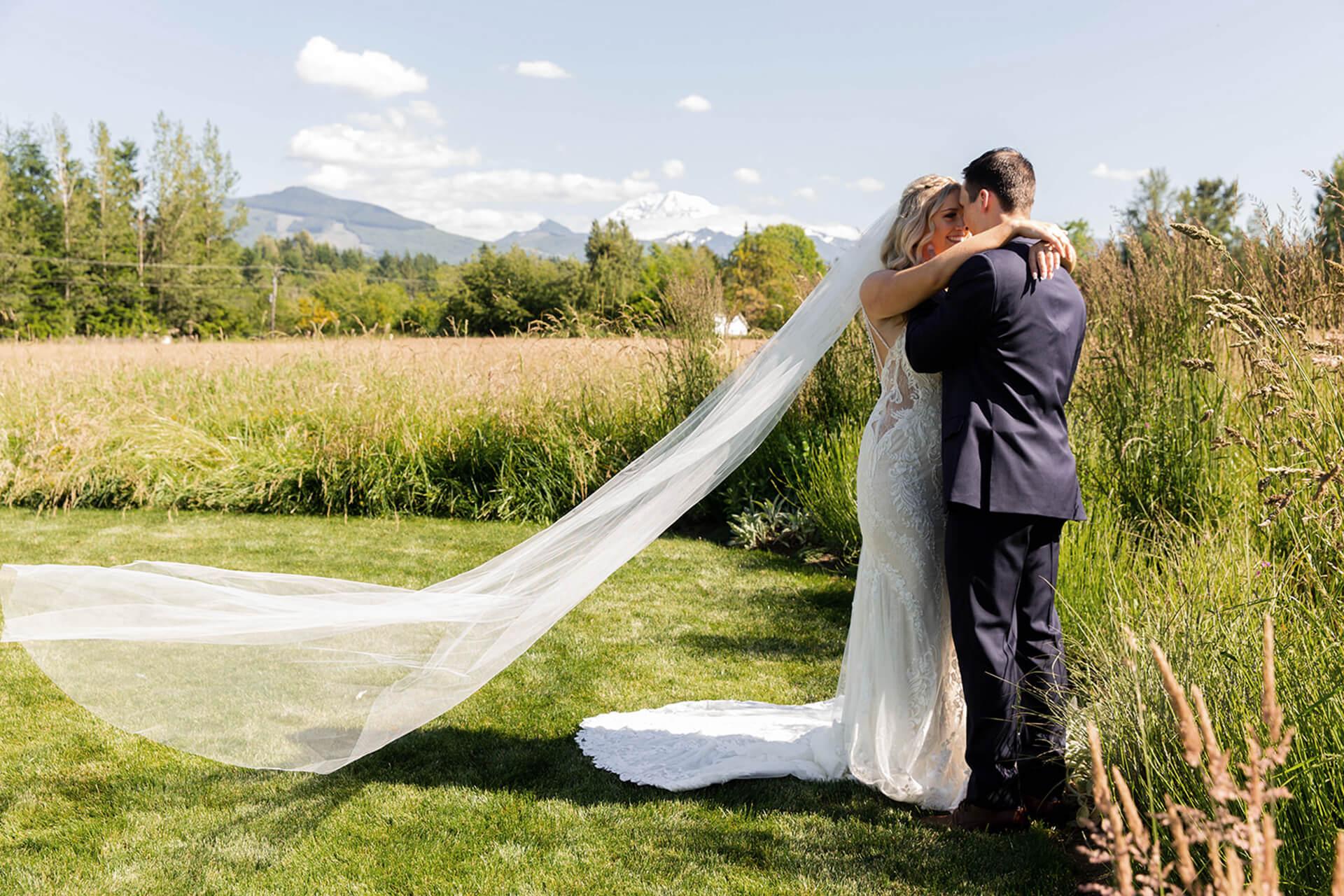 Bridal veil floating at Mount Peak Farm
