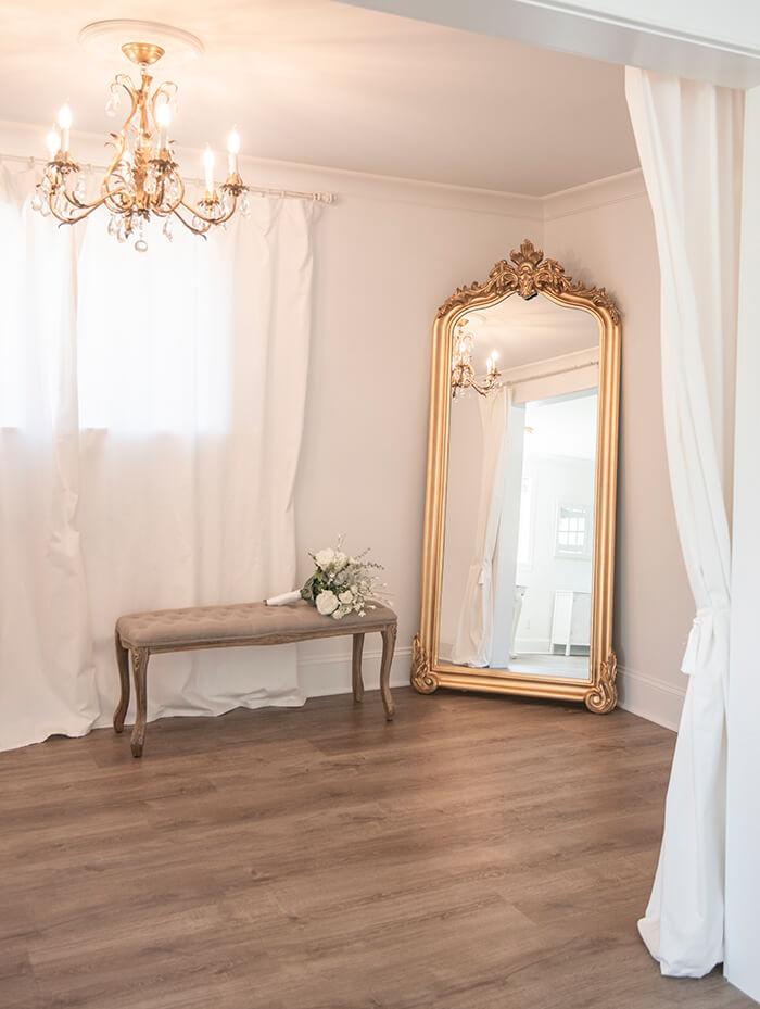 Bridal dressing room at Mount Peak Farm