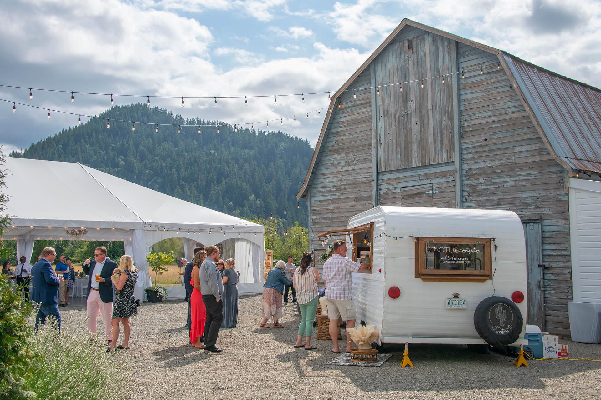Wedding reception at Mount Peak Farm